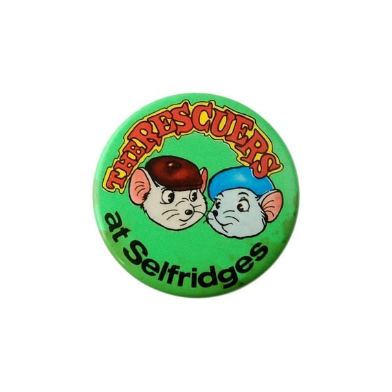 1970s Badge - The Rescuers at Selfridges