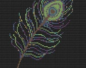 peacock feather cross stitch pattern pdf