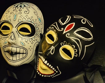 Ben and Chon Masks - Day of the Dead Male Savages Taylor Kitsch and Arron Johnson Dia De los Muertos Calavera Sugar Skull Masks Mans men