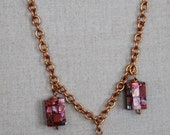 Urban Amulet Collection - Pink Dyed Abalone and Copper Necklace