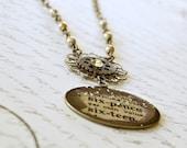 Glass Pendant Necklace, Vintage Style Necklace