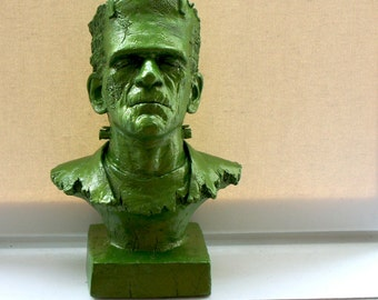Awesome Green Monster Bust Sculpture