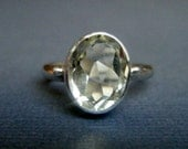Huge Price Cut Green Amethyst Ring Size 6