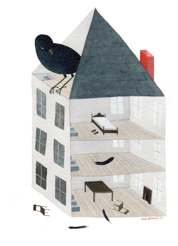 Starling House . Print