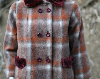 super amazing plaid with faux leopard collared jacket