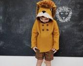 Childs Ferocious Felt Lion Coat