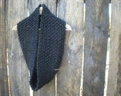 womens infinity knit cowl scarf // charcoal grey