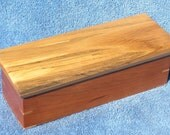 Cherry and Spalted Oak Lift Top Pencil Box