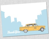Taxi Cab Thank You Notes - Set of 10