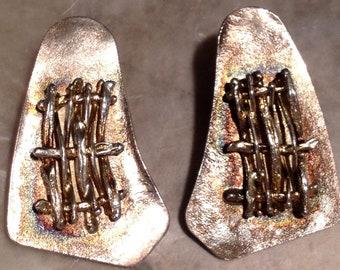 Vintage Huge Clip On Earrings Designer Jewelry Avi Sofer Rare Beauty