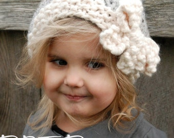 Knitting PATTERN-The Vivian Slouchy (Toddler, Child, Adult sizes)