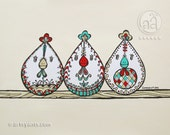 Items Similar To Chickens Hens Nesting Folksy Doodle