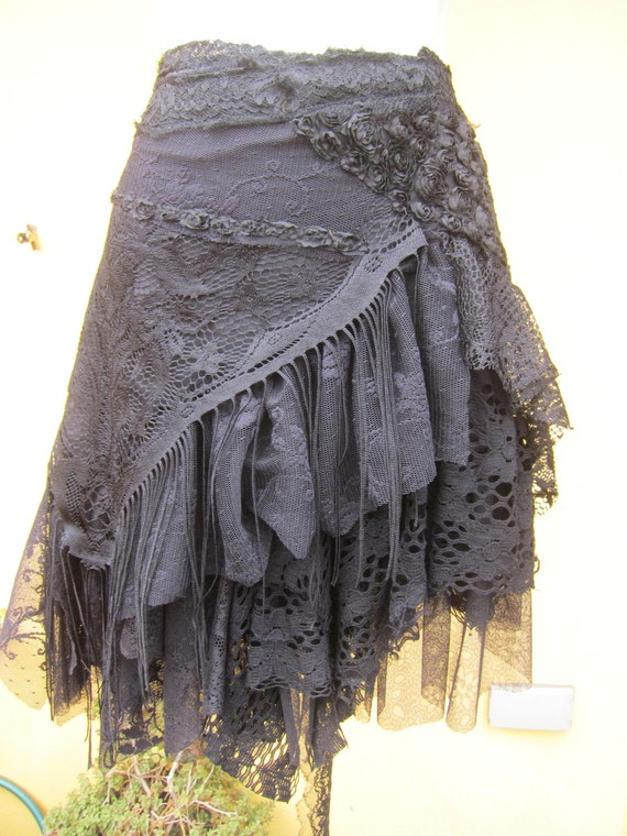 Vintage Inspired Extra Shabby Gothic Cotton Wrap