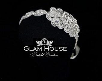 Crystal Flower Headband,Bridal headband,wedding hair accessories,bridal headpiece,bridal hair accessories,crystal headband,baby headband