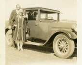 """1927 Vintage Photo """"Love on the Open Road"""", Photography, Paper Ephemera, Snapshot, Old Photo, Collectibles - 0007"""