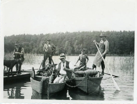 """Vintage Photo """"Work on the River"""", Photography, Paper Ephemera, Antique, Snapshot, Old Photo, Collectibles - 0079"""