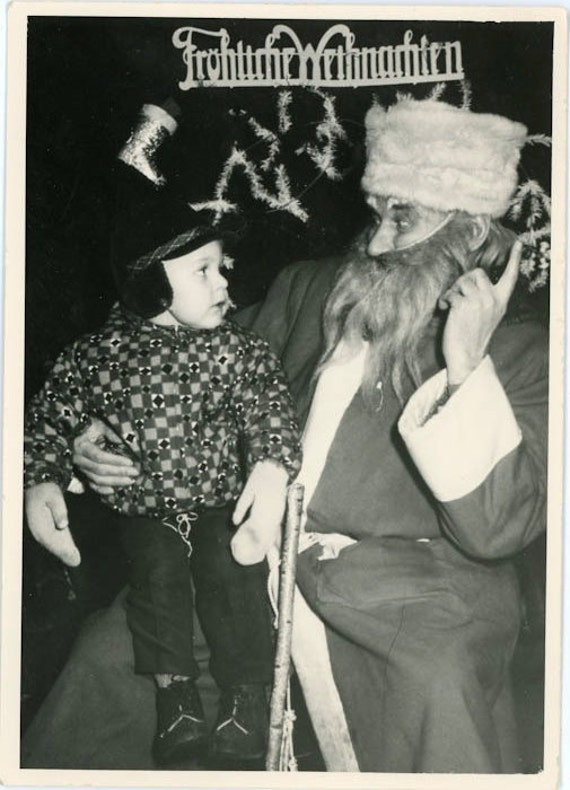"Vintage Photo ""Creepy Santa Alert"", Photography, Paper Ephemera, Snapshot, Old Photo, Collectibles - 0084"