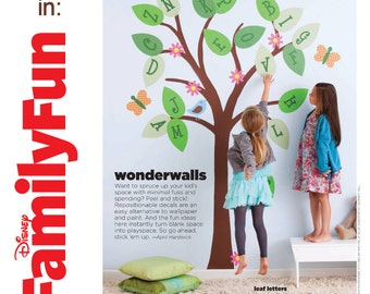 Alphabet Tree Children Wall Decal Featured in Disney Family Fun Magazine