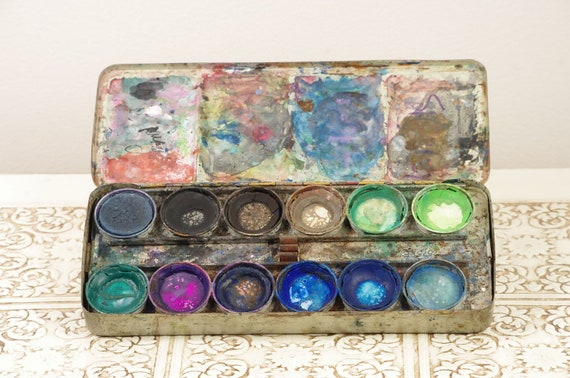 Vintage Marabu Paint Set - Tin with 24 Paints - Made in Germany