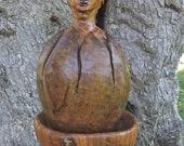 New Life Emerging, Olive Wood Sculpture