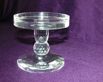 Crystal Pillar Candle Holder - Pedestal