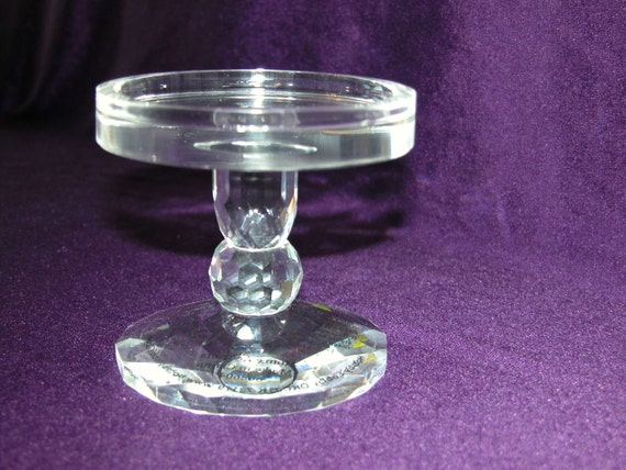 Pedestal Candle Holders : Crystal pillar candle holder pedestal