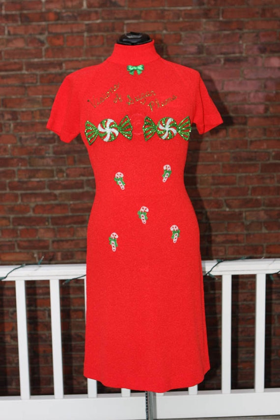 ugly christmas sweater dress sexy red visions of