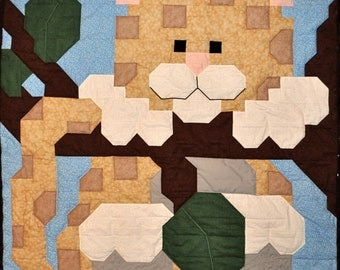 Baby Leopard Baby Quilt Pattern in Wall, Crib, and Lap Sizes - PDF
