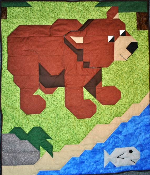 Brown Bear Quilt Pattern - PDF
