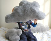 Fluffy Cloud Pillow with Silver Lining - One large pillow for baby nursery or child's room