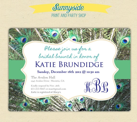 Peacock Bridal Shower Invitations correctly perfect ideas for your invitation layout