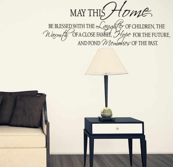 May This Home Be Blessed Wall Decal Vinyl Wall Art