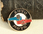 Cute Rare Badge - Vintage Pin - AUTO - MOTO - Gift for your car Mechanic