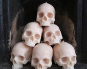 Life-size Skull Candle great for Halloween (cast from a real skull)