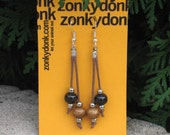 Primitive Style Beaded Earrings - Tribal Vibes by zonkydonk