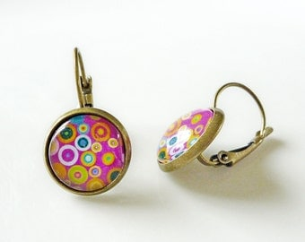 Earrings Pink Spotty Dotty - Colour fun Earrings