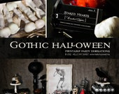 Gothic Halloween Party - Printable Decorations - PERSONALIZED