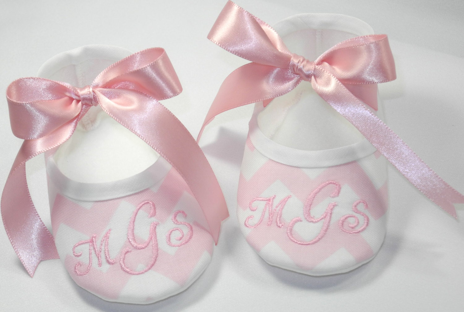 Chevron Baby Shoes Monogrammed Baby Shoes Personalized Baby