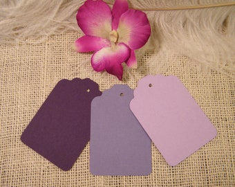 150 Gift Tags Hang Tags / Wedding Wish Tree Tags  /  Blank / Trio Of Purple and Lavender and Lilac