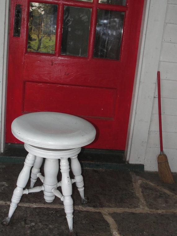 Antique Piano stool, shabby chic