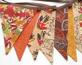 Thanksgiving Banner  / Autumn Buntingr / Photo Prop  with Fall Leaves and Hand Turkeys