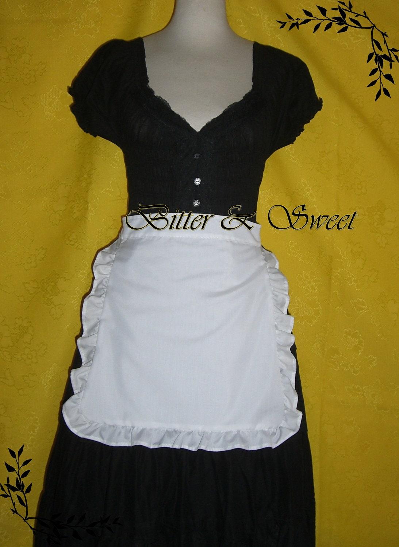 White apron fancy dress -  Zoom