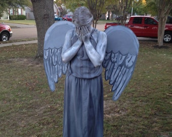 Doctor Who Weeping Angel Statue Costume Handmade Inspired DRESS 4 5 6 7 8 10