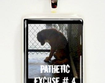 Pathetic Excuse Number 4 Allergies Game Tile Pendant