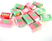 Christmas Printable Christmas Mini Candy Bar Wrappers Red and Green Stars, Snowflakes, Stockings