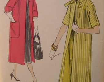 Fabulous Vintage 50's Misses' COAT Pattern VERY EASY