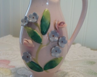 Small and Sweet Vase  Pitcher  Shabby Cottage