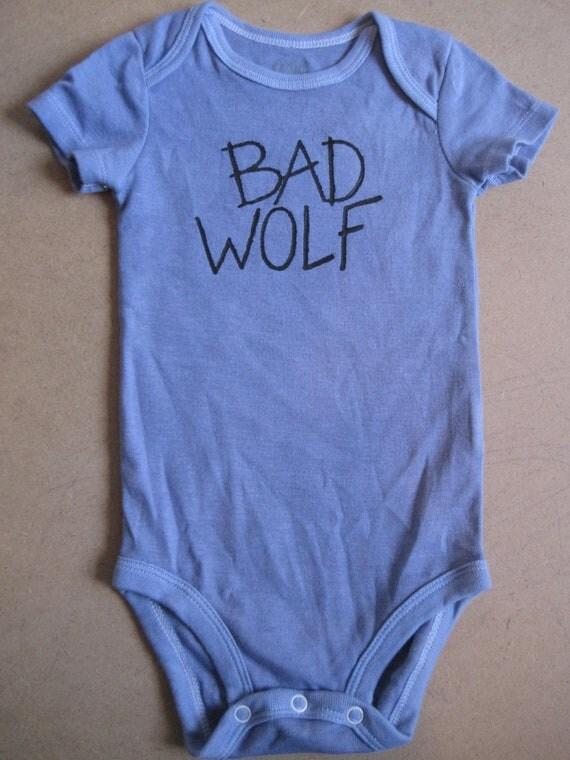 BAD WOLF -Hand Painted- Onesie
