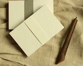 Double-sided blank beige the Kusaka paper 4 x 6 postcards, Crafting or Letterpress or Stamping (set of 40)