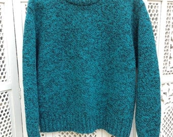 Woolrich Sweater Teal and Black - L